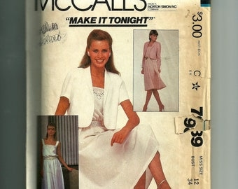 McCall's Misses' Jacket and Dress Pattern 7989