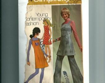 Vintage Simplicity Miss Mini- Dress, Jumper, and Pants Pattern 9474