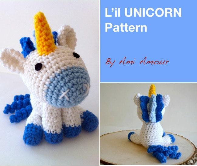 Crochet Unicorn Pattern : il Unicorn pattern amigurumi crochet Etsy