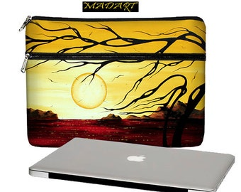MadArt MacBook Case, 13 MacBook Pro Case, 13 MacBook Air Case, MacBook Pro Retina 13 inch laptop sleeve zipper pocket Golden Harmony  RTS
