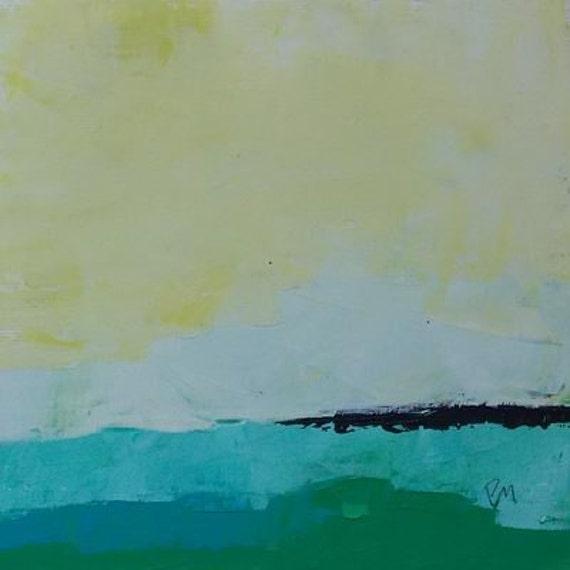 abstract landscape original oil