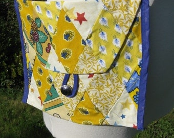 Diamond Patchwork Purse in Starry Yellows