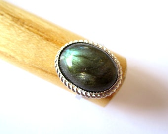 Labradorite Ring.  Sterling Silver. Adustable.  Clearance SALE