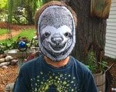 Sloth Mask wearable paper animal mask masquerade wildlife anthropomorphic handmade mask - MATTYCIPOV