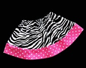 Boutique Zebra and Polka Dots MINI SKIRT
