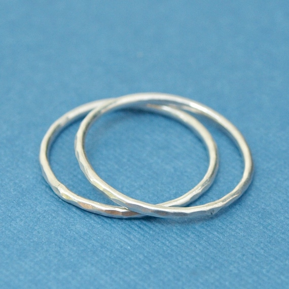 Items similar to Simple Silver Rings , Sterling Silver ...