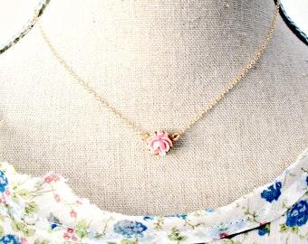 NEW Mini Rose Necklace- 14K Gold Filled