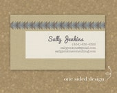 Sally Jenkins Textured Business Card Design - Printable
