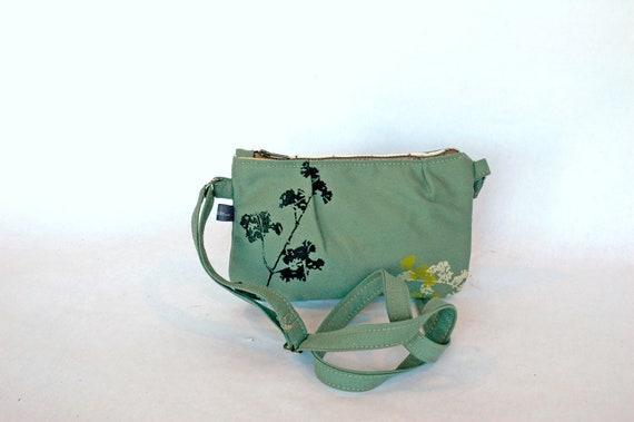 SALE Pattie-small crossbody bag teal in Wildwood print
