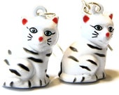 10% Off Sale Kitty Cat Earrings -- Brass Bell Dangle Earrings -- Handmade Jewellery Kawaii Earrings