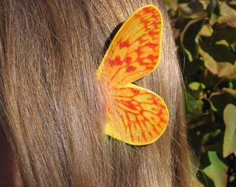Golden Stripe Butterfly Fairy Ear Wings