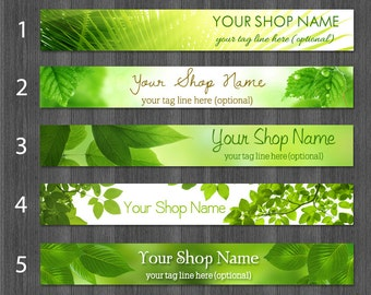 Etsy Banners Spring, Rainforest Banner, Forest Banner, Nature Banners