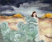 giclee print - she carried with her the sea - limited edition print of original oil painting