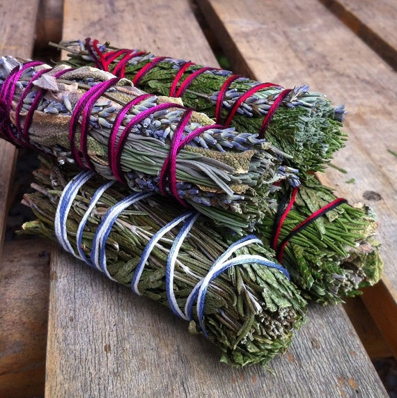 Clarity, Blessing, Divine Mother and Wise Woman Smudge Stick 4 Pack