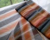 Halloween Fabric yardage- black, orange and white striped sheer for decoration or COSTUME- witch fabric, glamour costume
