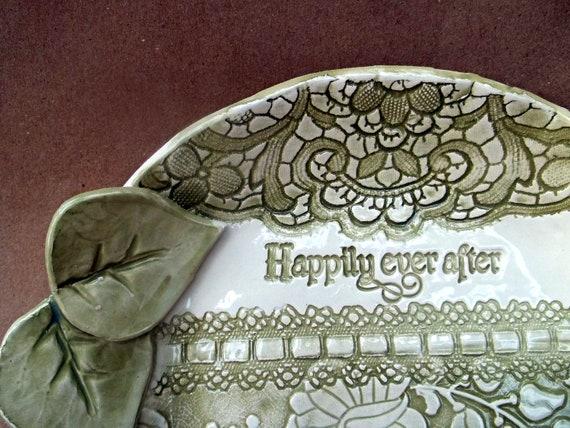 Wedding or Anniversary Large Ceramic Bowl