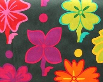One full yard of Robert Kaufman fabric - Guatemalan Floral API-9756-201 Jewel - quilt weight fabric