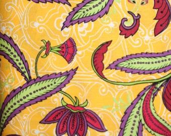 StudioE Fabric - One Yard - E60-1246 Yellow Calypso Leaf