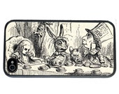 iphone 6 case Alice in Wonderland iPhone case, Mad Hatter Tea Party, fits iPhone 4, 4s - iPhone 5 Case - Galaxy s3 s4 s5