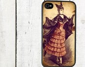 iphone 6 case Victorian Bat Girl iPhone 4 Case, fits iPhone 4 and 4s, Halloween - iPhone 5 Case