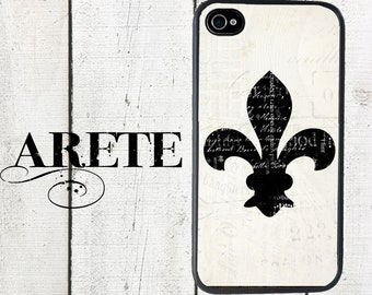 iphone 6 case iPhone case Shabby Fleur de Lis, fits iPhone 4, 4s - iPhone 5 Case