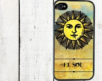 El Sol Mexican Loteria Phone Case for  iPhone 4 4s 5 5s 5c SE 6 6s 7  6 6s 7 Plus Galaxy s4 s5 s6 s7 Edge