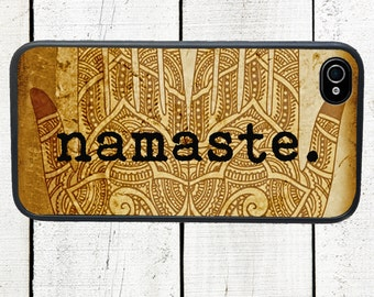 iphone 6 case Namaste iPhone Case iPhone 4 and 4s Case - iPhone 5 Case - Galaxy s3 s4 s5