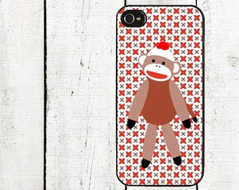 iphone 6 case Sock Monkey Cell Phone Case - iPhone 4 Case  - iPhone 5 Case