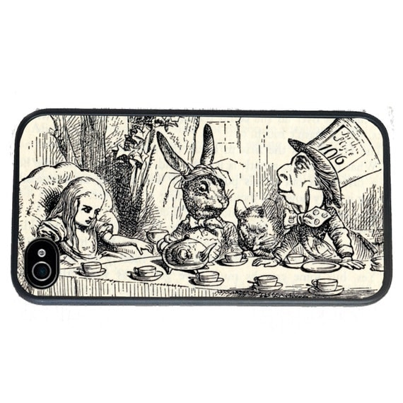 Alice Mad Hatter Tea Party Phone Case for  iPhone 4 4s 5 5s 5c SE 6 6s 7  6 6s 7 Plus Galaxy s4 s5 s6 s7 Edge