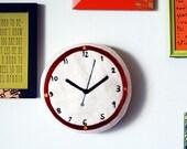 Felt Clock . Rust