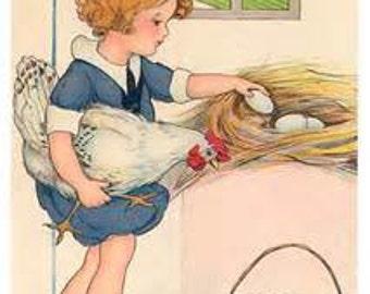 Fetching Eggs Cross Stitch Pattern PDF