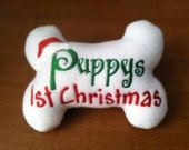 Dog Bone Toy - Puppy's First Christmas