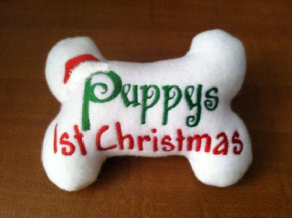 Puppy's First Christmas Dog Bone Toy