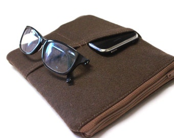 Men's NEW-Kindle Case Nook Glowlight Cover Kobo Case - Brown Wool