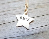 Shooting Star Necklace Goldfill Personalized Jewelry
