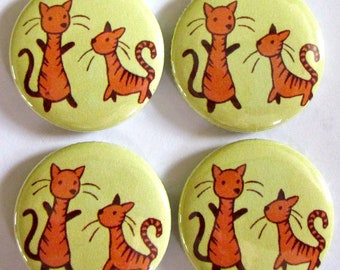 Dancing Kitties Magnets (Set of 4)