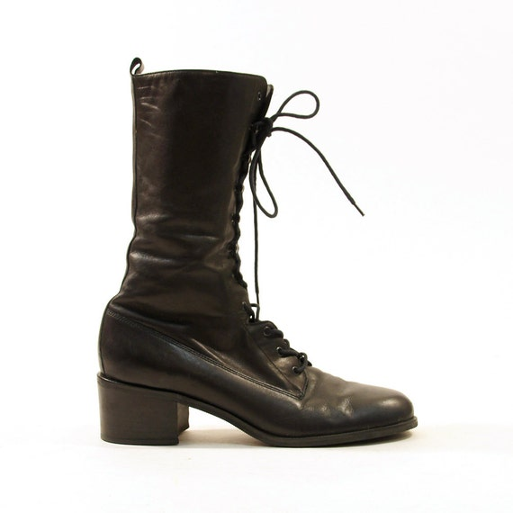 90s Nine West Lace Up Ankle Granny Booties / Women's sz 9