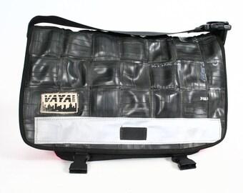 Woven Recycled Bike Tube Petite Sized Messenger Bag
