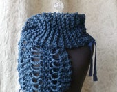 Wreckage Scarf in monaco blue - Made to Order