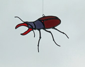 Art Glass Stag Beetle for Valentine Antics