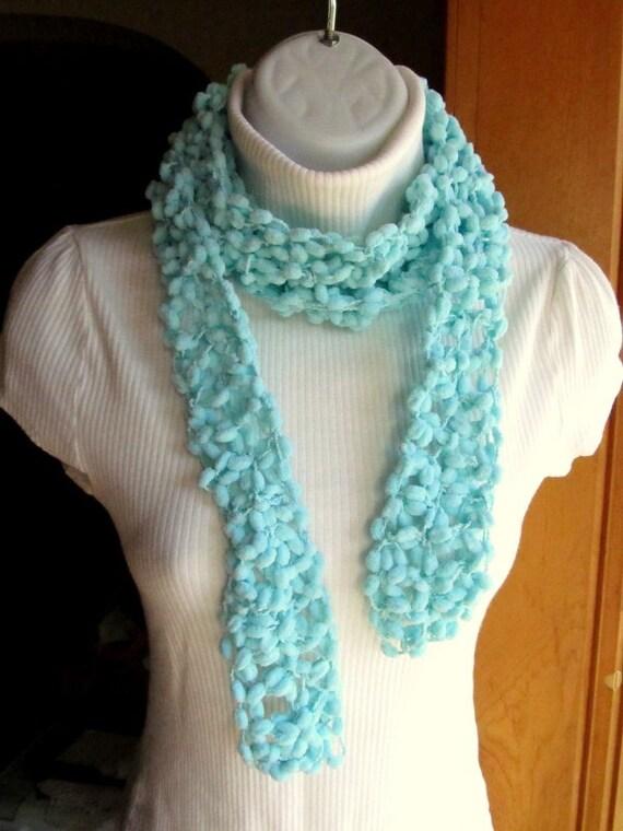 Crochet PomPom Scarf