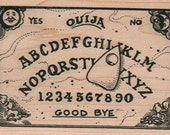 Large Halloween stamps    Ouija board rubber stamps   wood mounted 2266