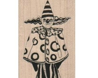 Whimsical clown   circus    Rubber Stamp by Mary Vogel Lozinak 18832