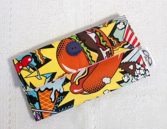 Hot Dog Fast Food Wallet Handmade Cotton Junk Food Wallet