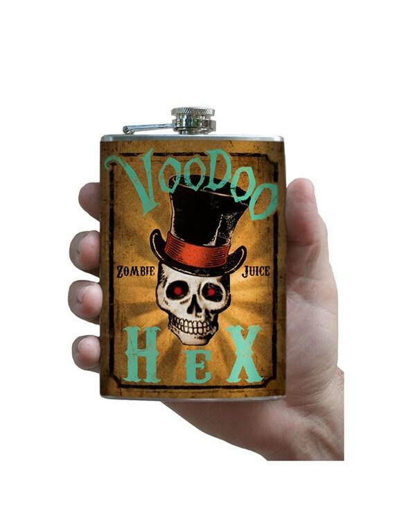 Voodoo Hex flask - stainless steel - 8oz.