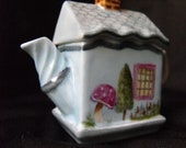 Hand Painted Porcelain Tea Pot Shaped  Box