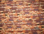 """18"""" half yard Brown Bricks fabric"""