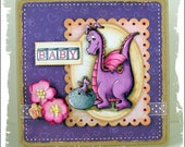 Welcome Little One baby shower card by ajsdesigns