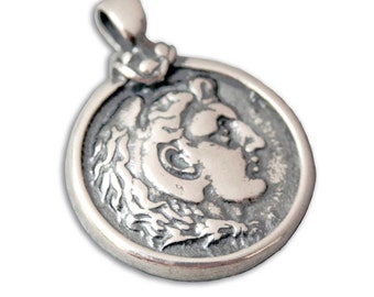 Alexander the Great - Silver Coin Pendant - M