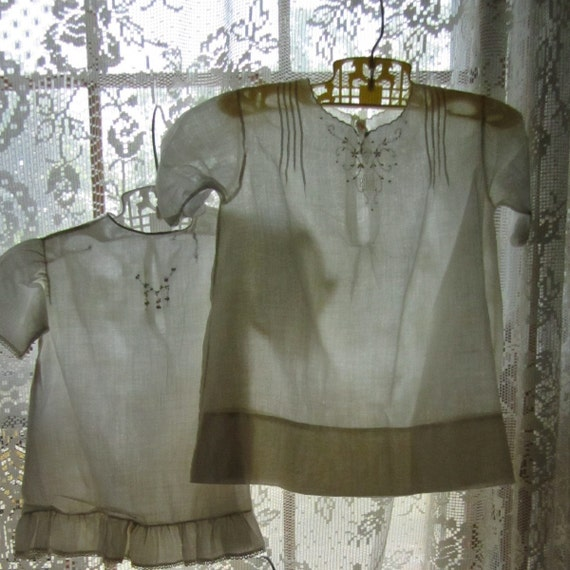Collection of Vintage White Baby Dresses